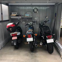 バイクガレージで愛車を格納  NO.1095の施工写真メイン