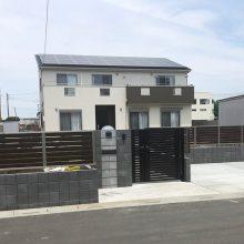 ブロック+フェンスでクローズ外構 NO.1099の施工写真3