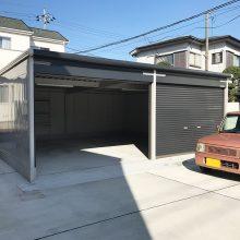 2連棟のガレージ NO.1107の施工写真メイン