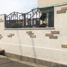 門塀をオシャレに NO.1104の施工写真1