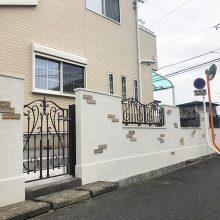 門塀をオシャレに NO.1104の施工写真メイン
