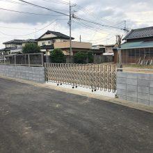 解体後の塀とゲート工事 NO.1137の施工写真1