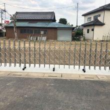 解体後の塀とゲート工事 NO.1137の施工写真メイン