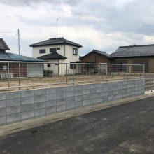 解体後の塀とゲート工事 NO.1137の施工写真2