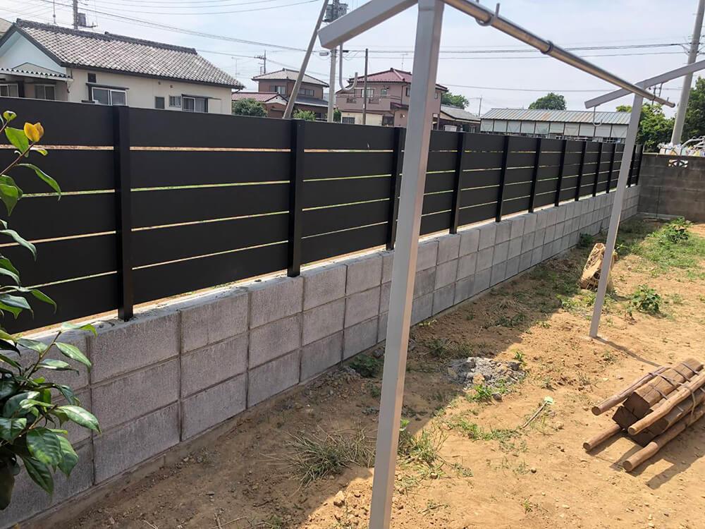 フェンスと土間工事 NO.1154