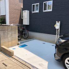 駐車場の土間コンクリート工事 NO.1156の施工写真2