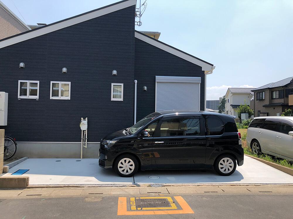 駐車場の土間コンクリート工事 NO.1156