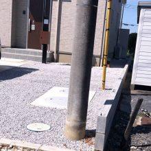 ブロック積みと雑草対策工事 NO.1167の施工写真2