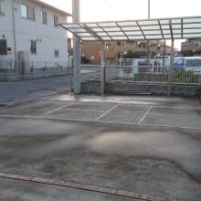 駐車場の目地とカーポート NO.1171の施工写真1