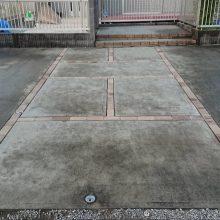 駐車場の目地とカーポート NO.1171の施工写真2