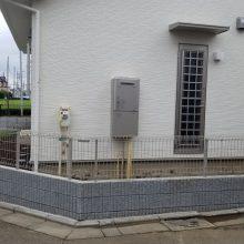ブロック・フェンスと目隠しスクリーン NO.1189の施工写真3