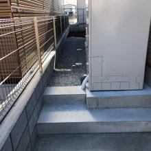 木目調の機能門柱 NO.1186の施工写真3