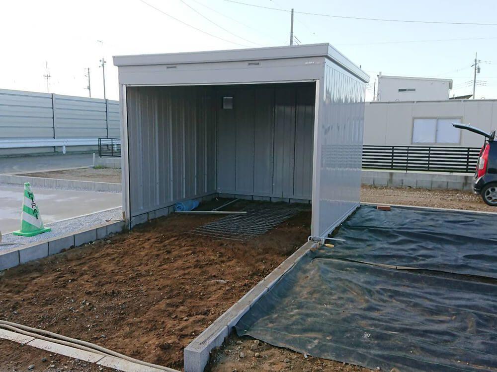 バイクガレージ NO.1210の施工写真3