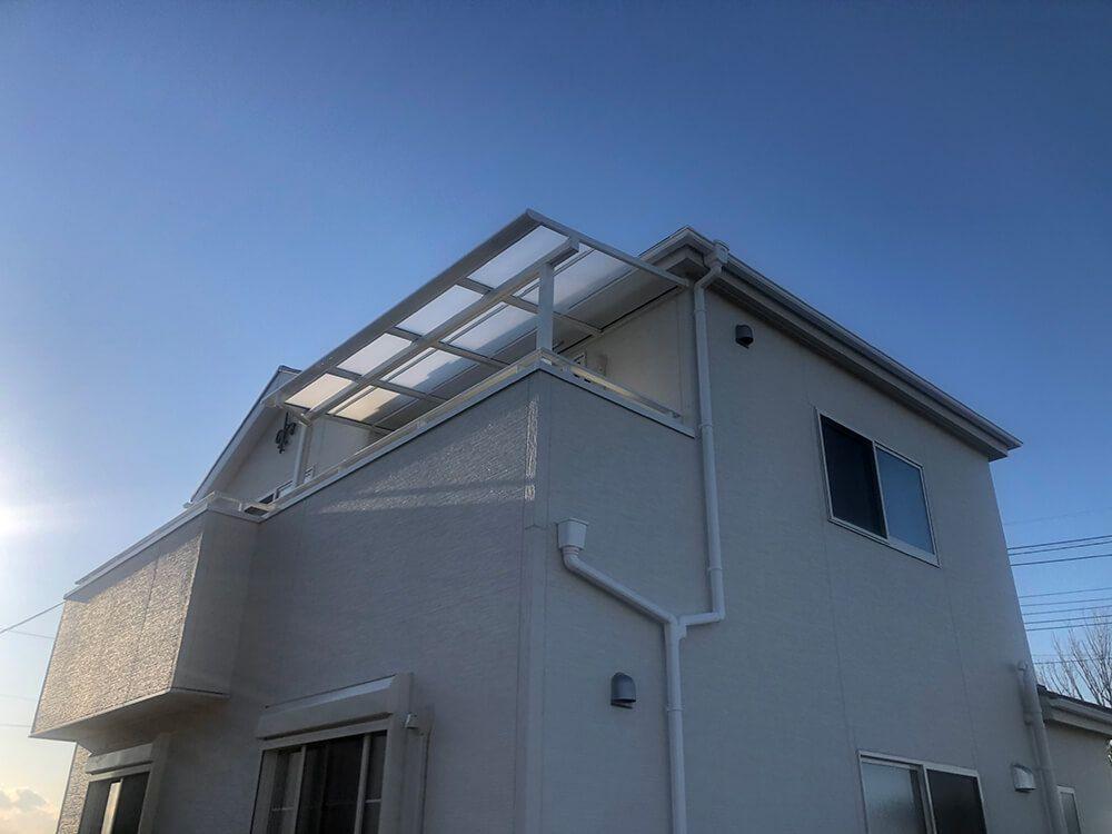 テラスとウッドデッキと人工芝 NO.1226の施工写真2
