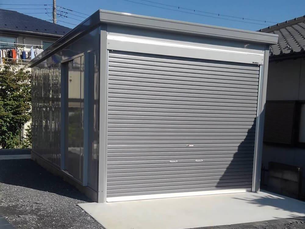 テラスとタイルデッキとガレージ NO.1230の施工写真2