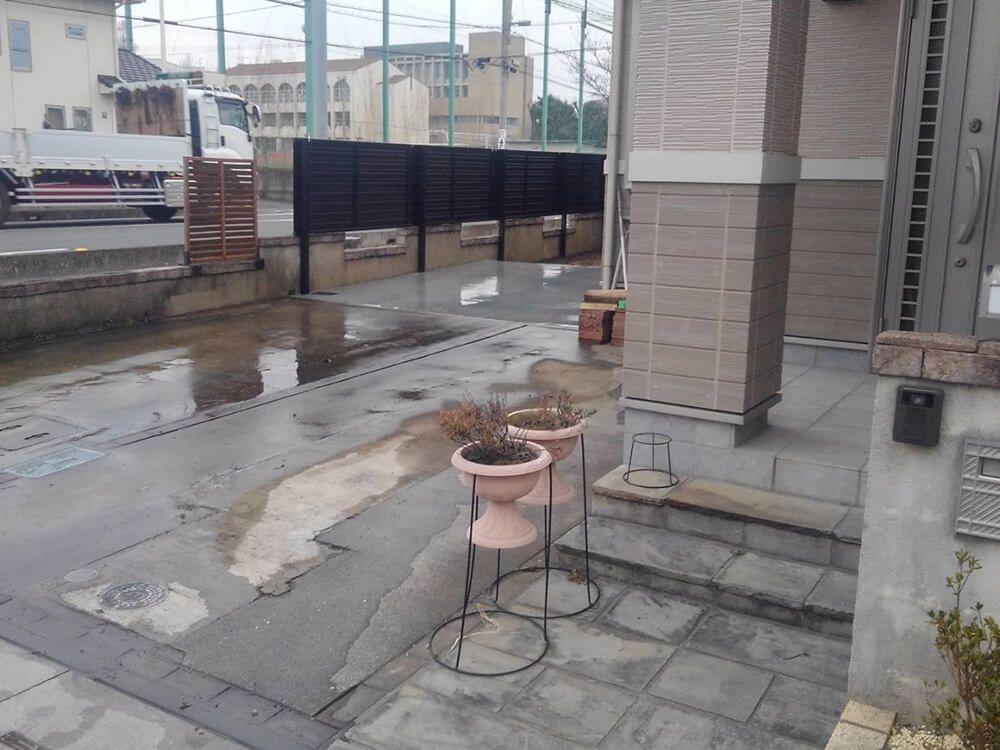 目隠しフェンスと駐車場工事 NO.1239の施工写真3