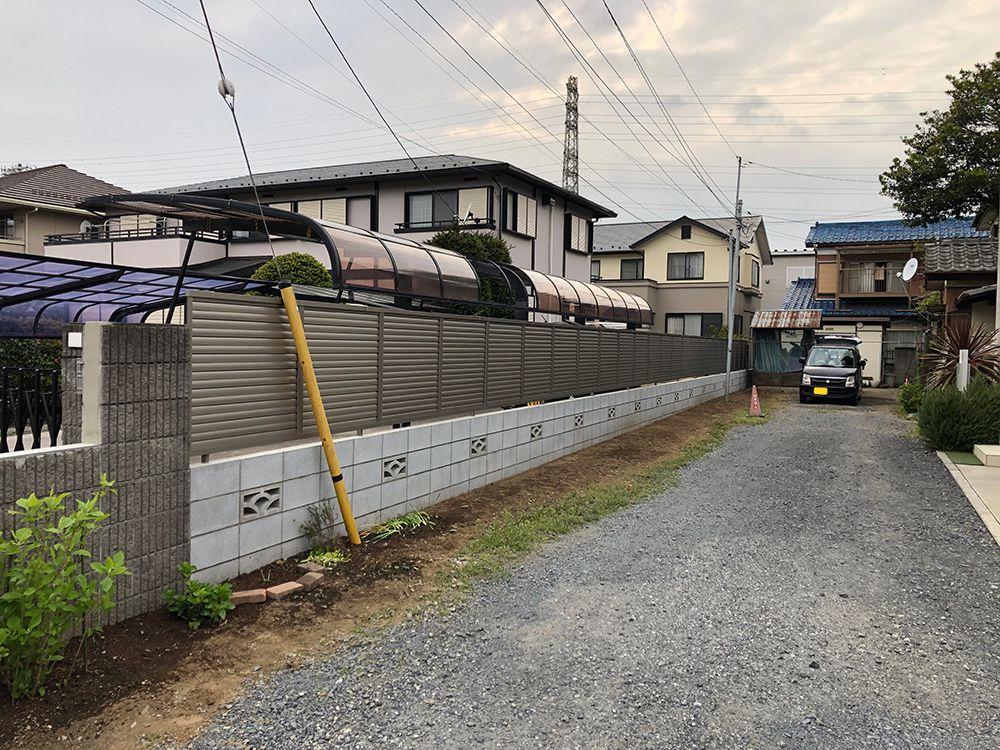 ブロック・フェンス設置工事 NO.1228の施工写真1