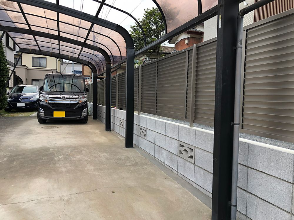 ブロック・フェンス設置工事 NO.1228の施工写真メイン