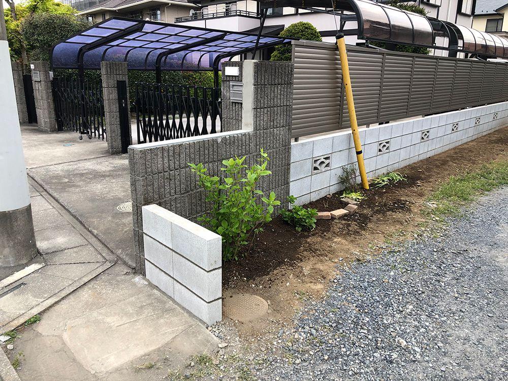 ブロック・フェンス設置工事 NO.1228の施工写真3