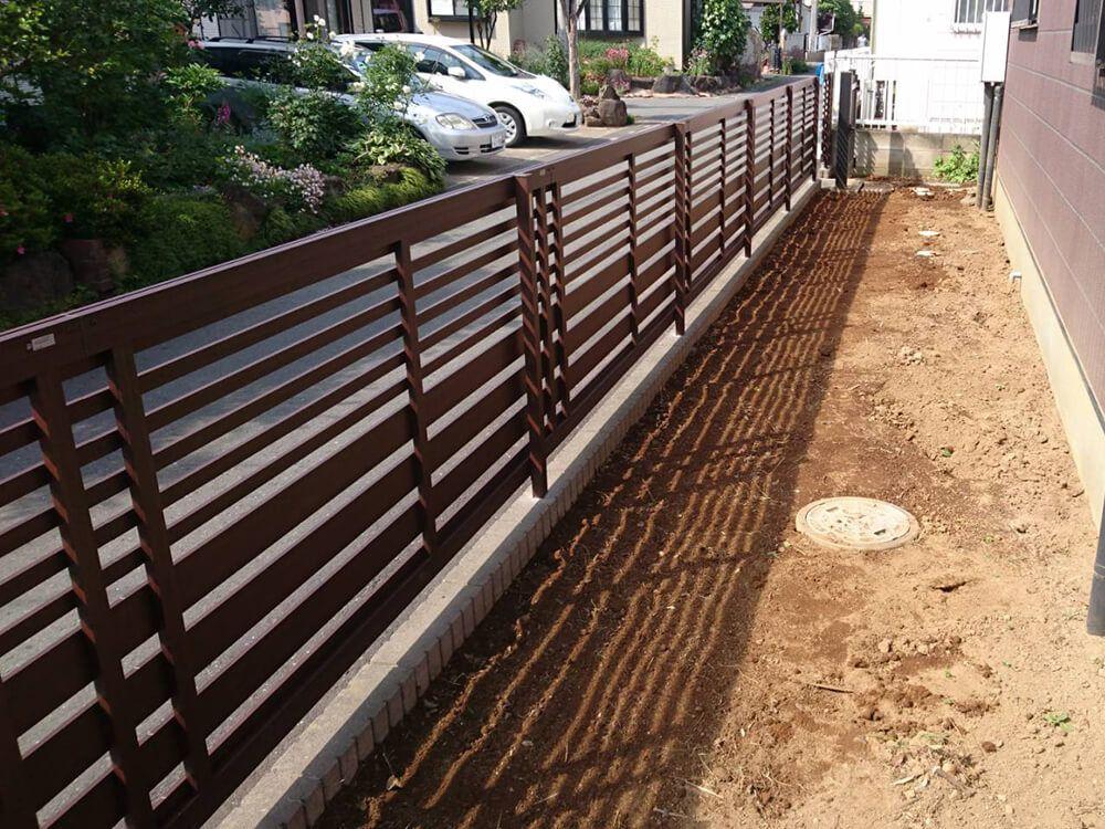 植栽撤去・フェンス工事 NO.1252の施工写真メイン