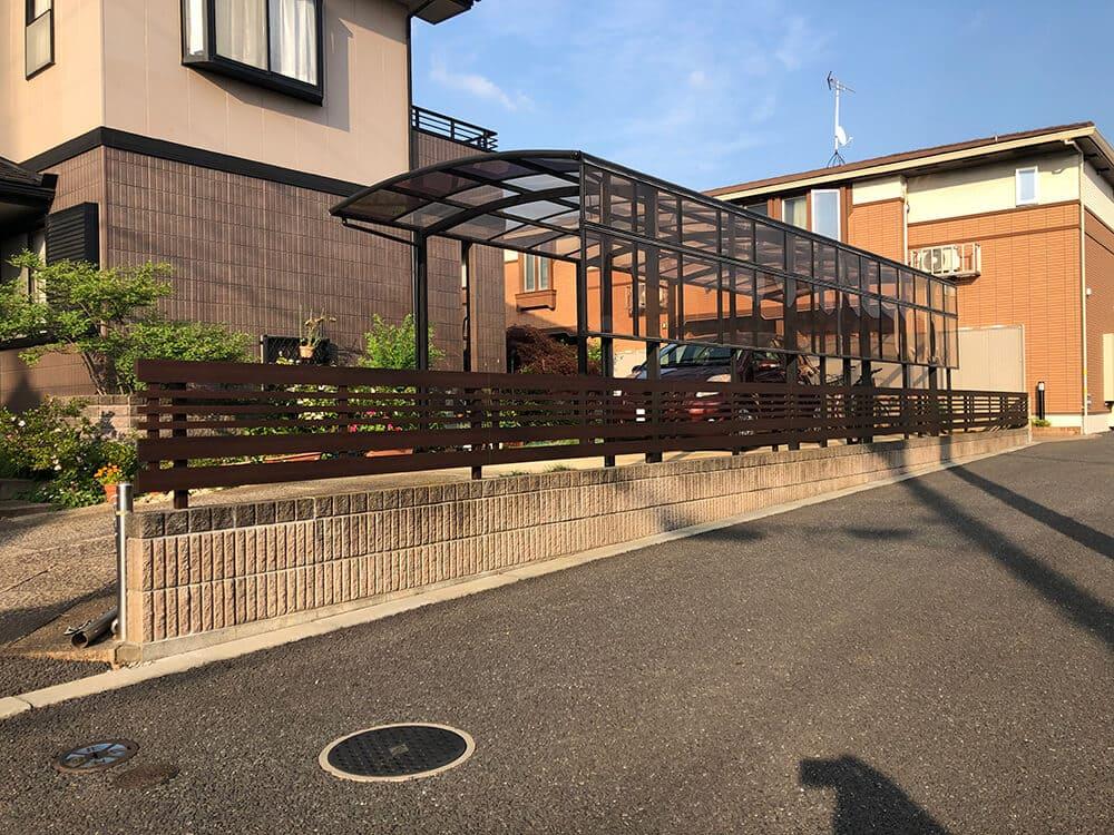植栽撤去・フェンス工事 NO.1252の施工写真1
