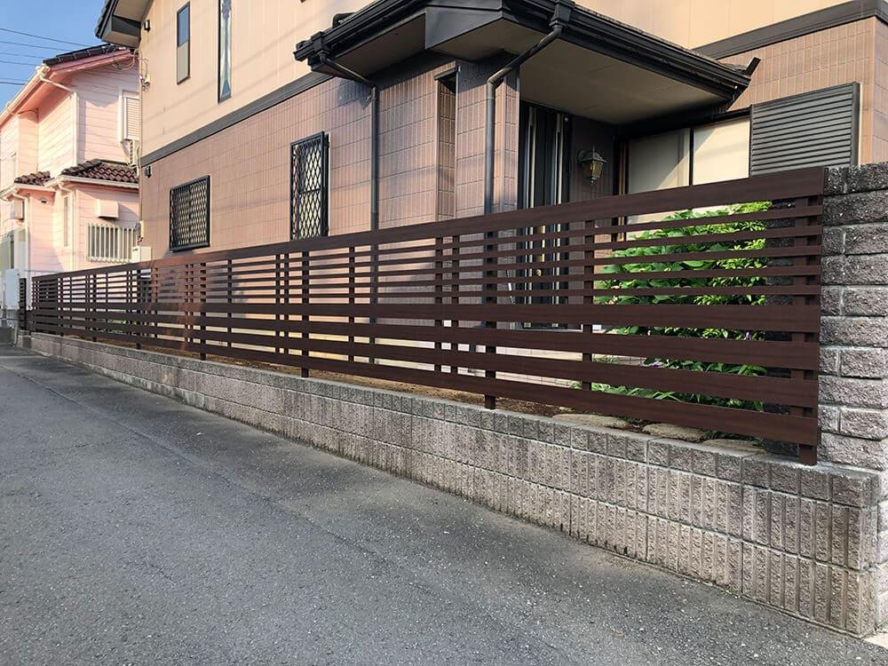 植栽撤去・フェンス工事 NO.1252の施工写真3