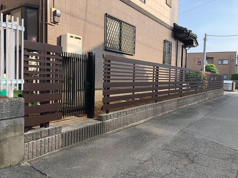 植栽撤去・フェンス工事 NO.1252の施工写真2