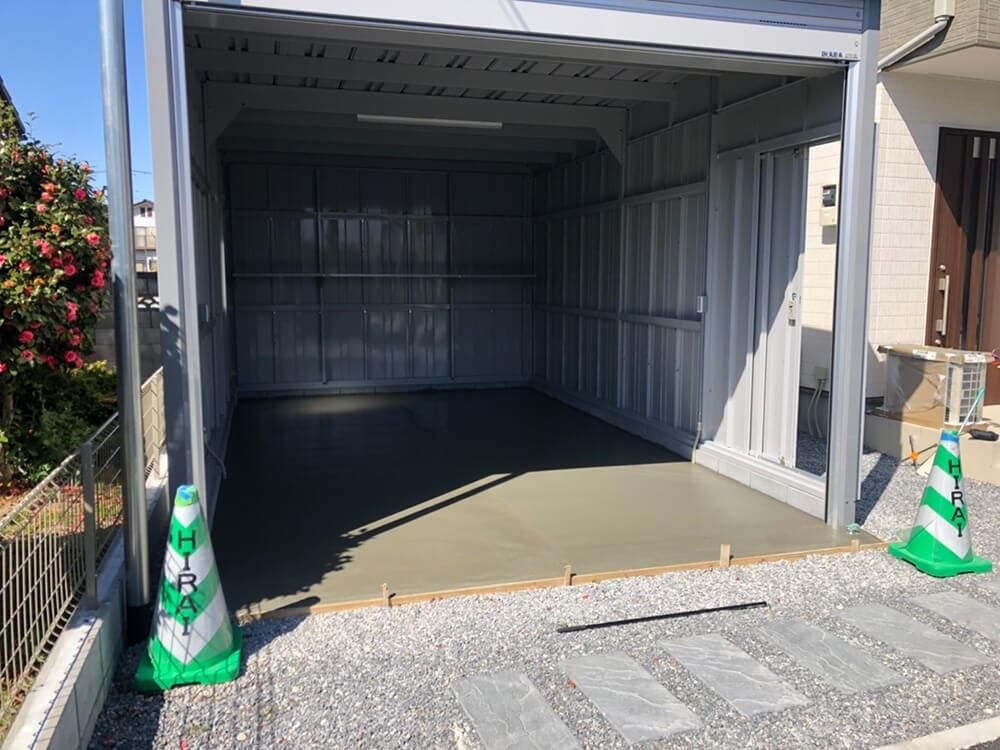新築ガレージ工事 NO.1247の施工写真1