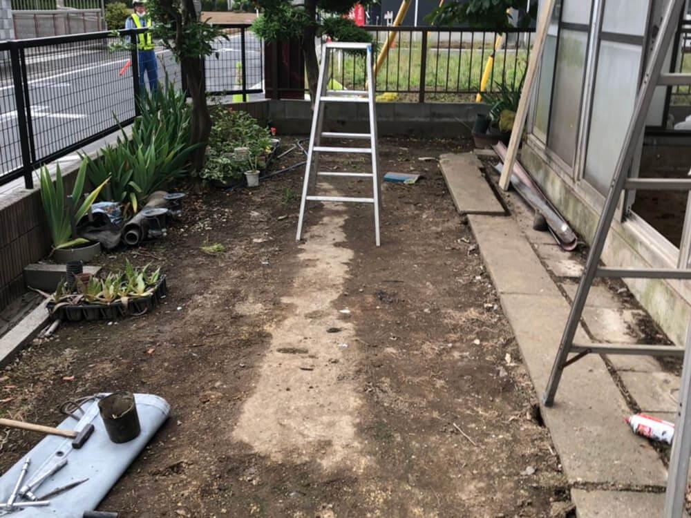 植栽ハウス内土入れ工事 NO.1264の施工写真1