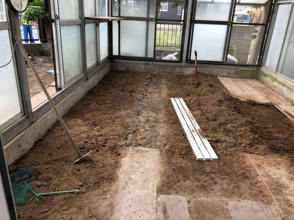 植栽ハウス内土入れ工事 NO.1264の施工写真メイン