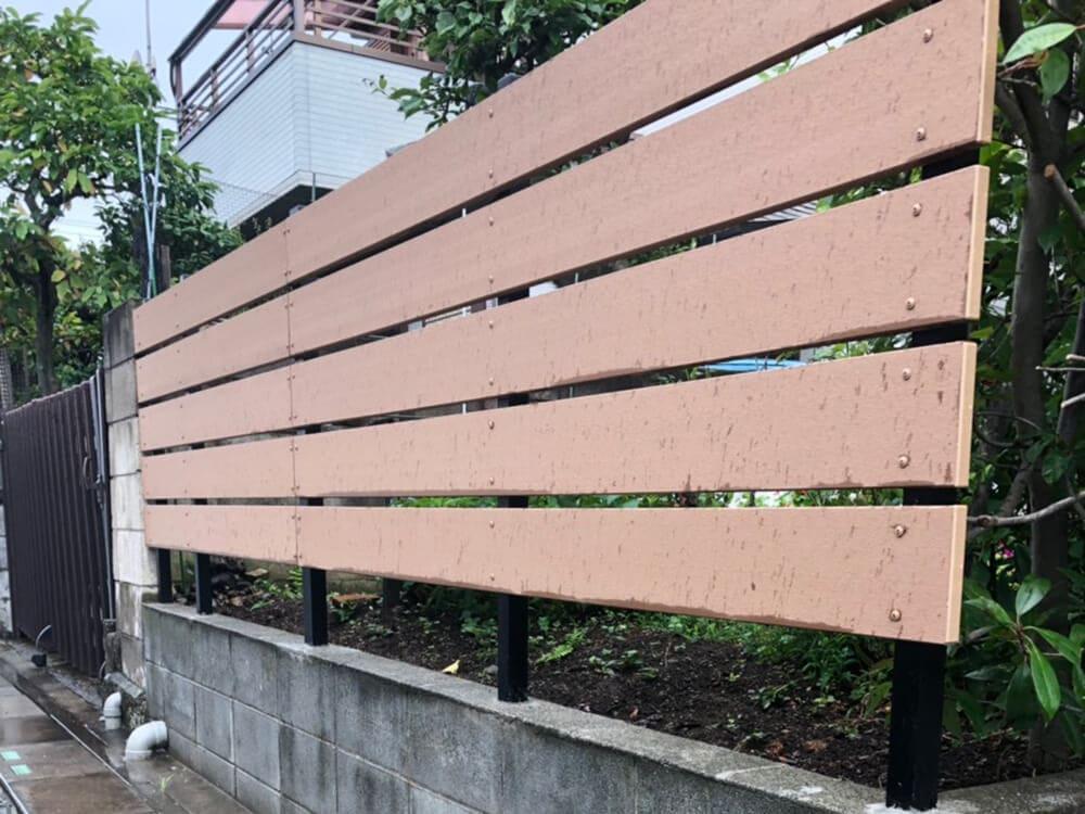目隠しフェンス工事 NO.1266の施工写真2