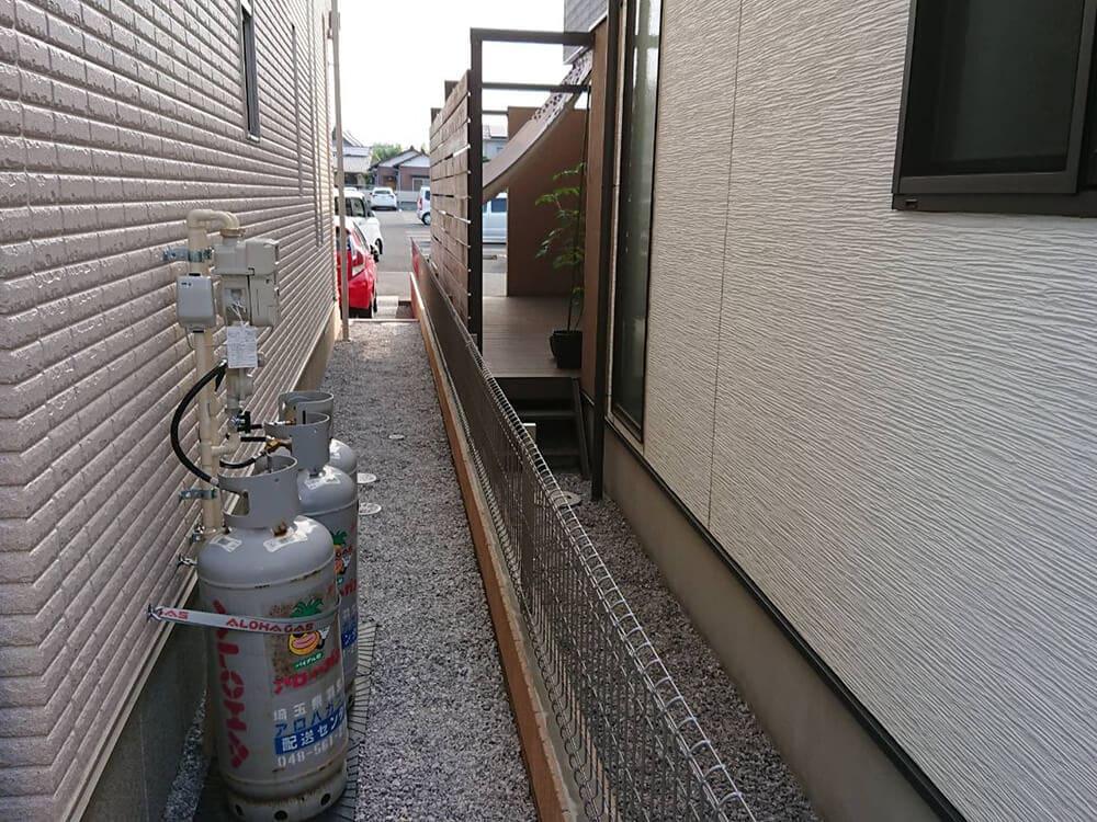 境界ブロック・フェンス工事 NO.1282の施工写真3
