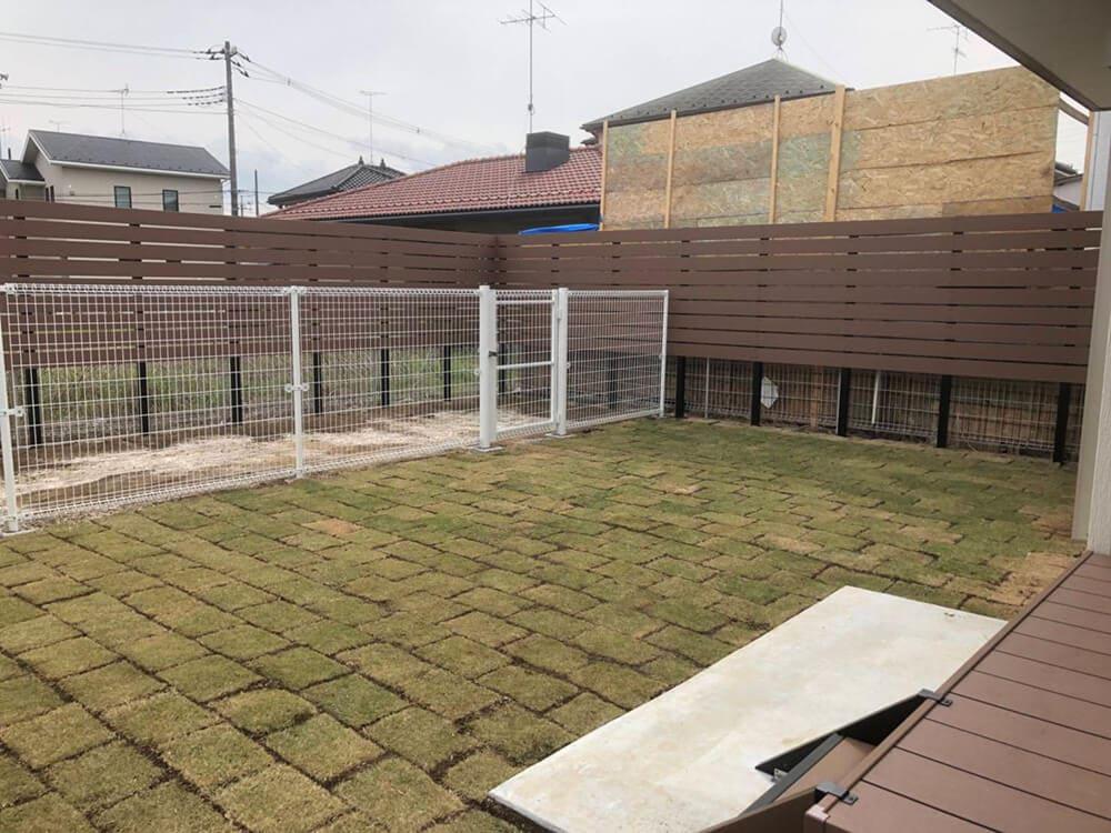 庭のフェンス工事 NO.1298の施工写真メイン