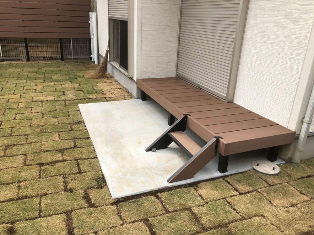 庭のフェンス工事 NO.1298の施工写真1