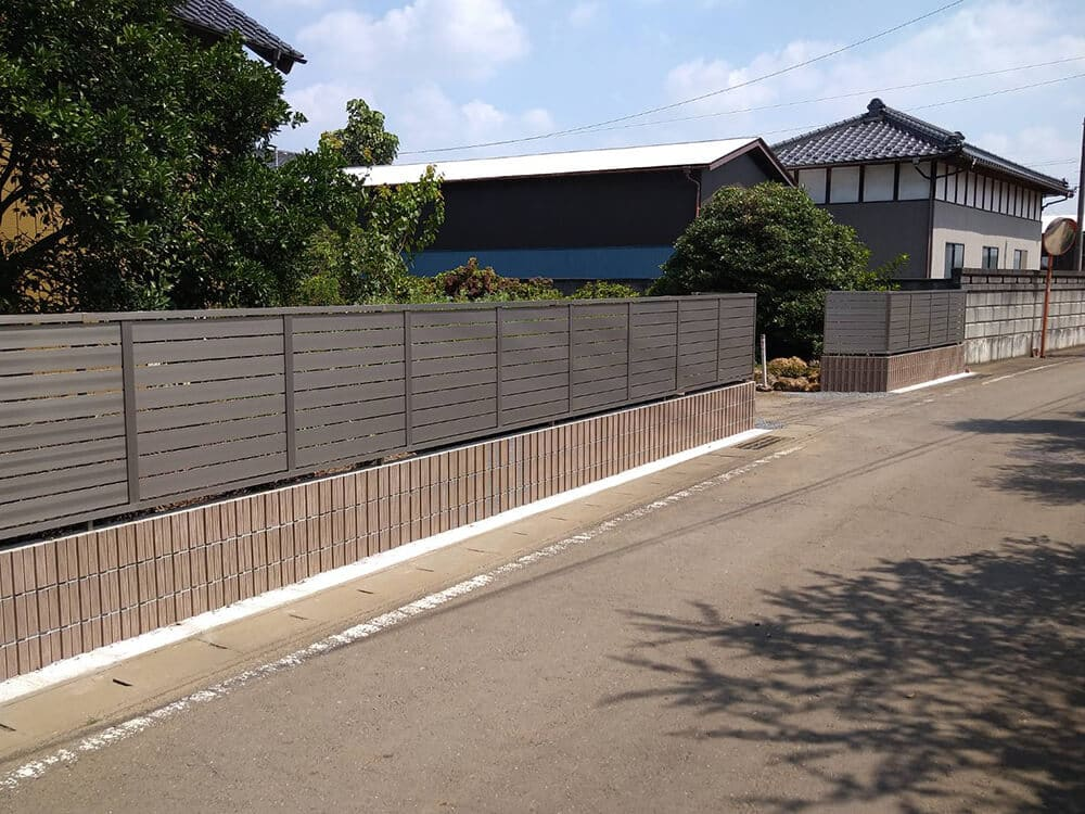 境界目隠しフェンス工事 NO.1290の施工写真メイン