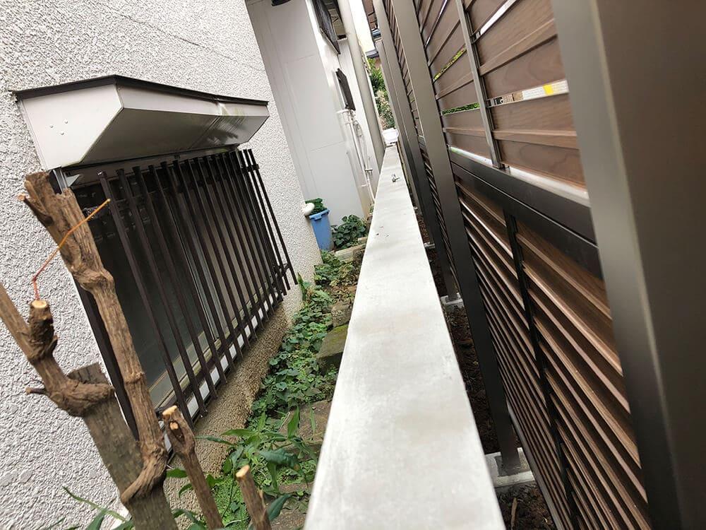 目隠しフェンス工事 NO.1297の施工写真3