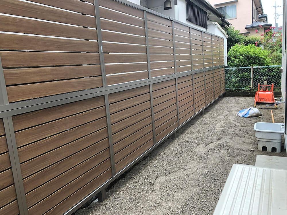 目隠しフェンス工事 NO.1297の施工写真メイン