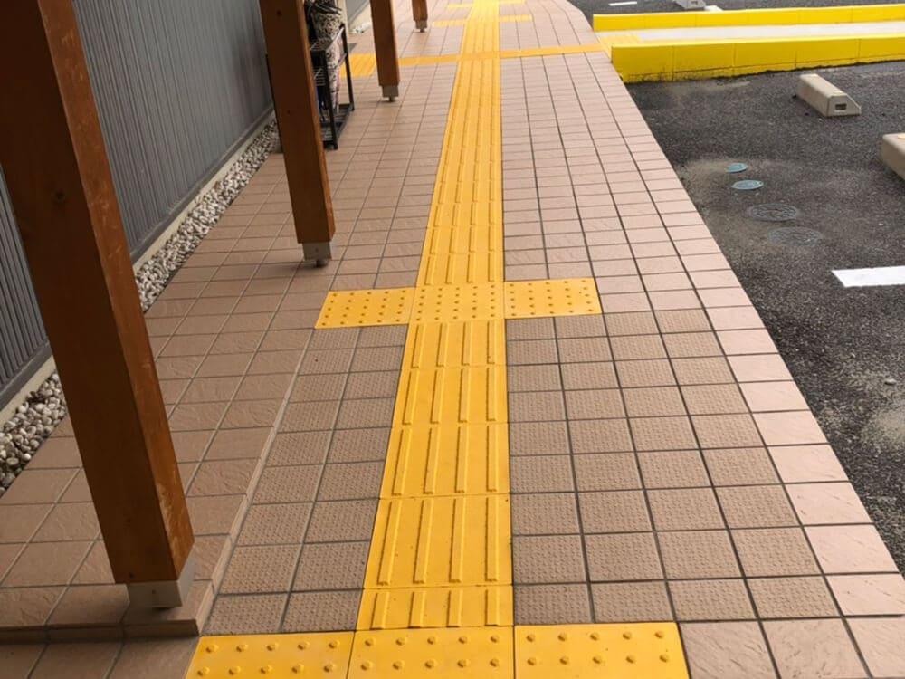 身障者マーク張替・ライン敷替工事 NO.1292の施工写真1