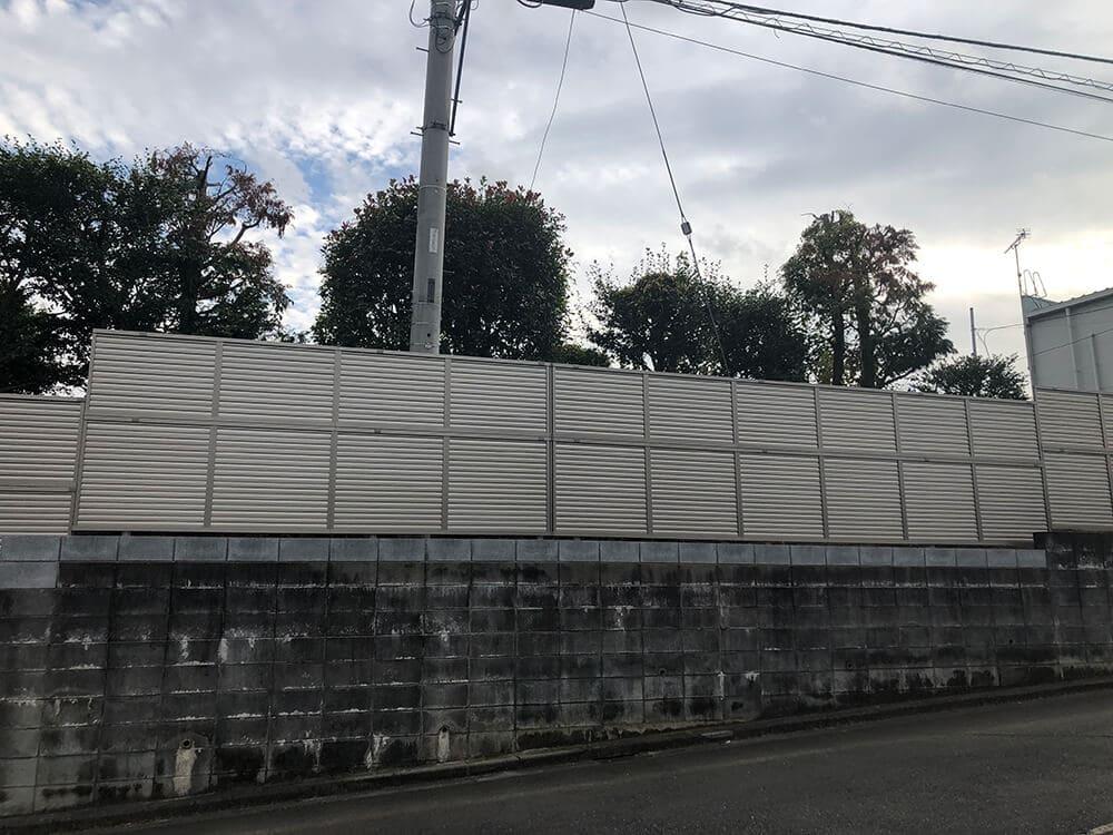 目隠しフェンス工事 NO.1316の施工写真2