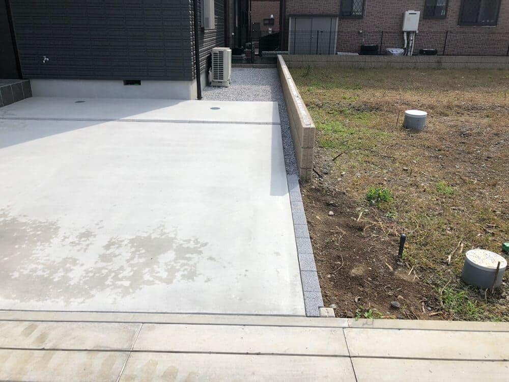 駐車場と防草対策工事 NO.1310の施工写真3