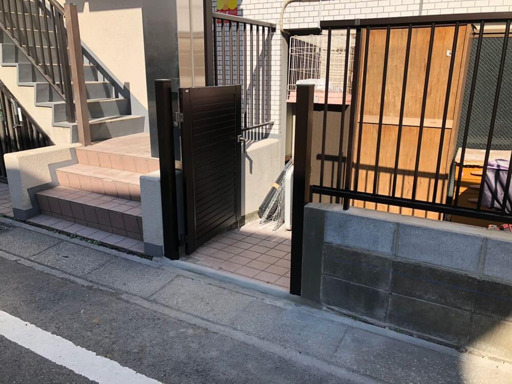 フェンス・目隠し門扉工事 NO.1315の施工写真3