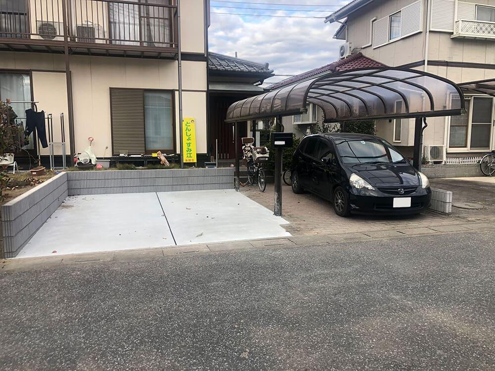 駐車場のリフォーム工事 NO.1345の施工写真1
