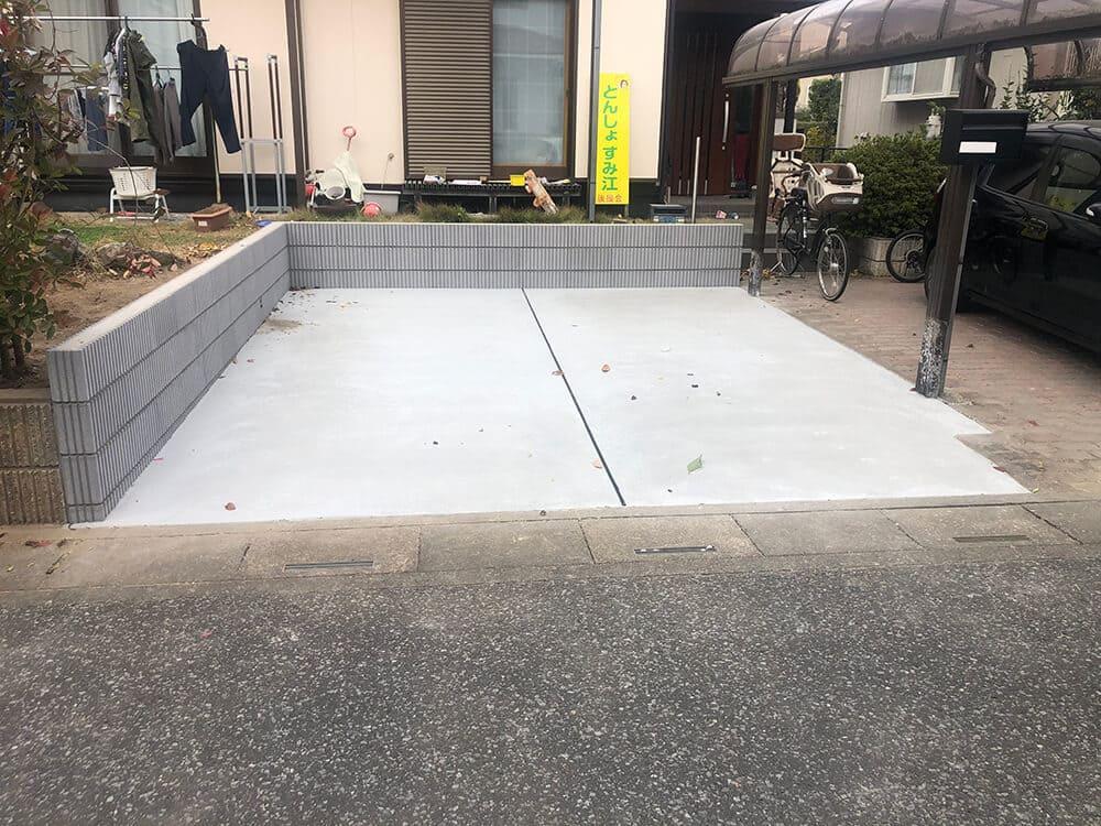 駐車場のリフォーム工事 NO.1345の施工写真2