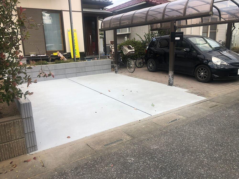 駐車場のリフォーム工事 NO.1345の施工写真メイン