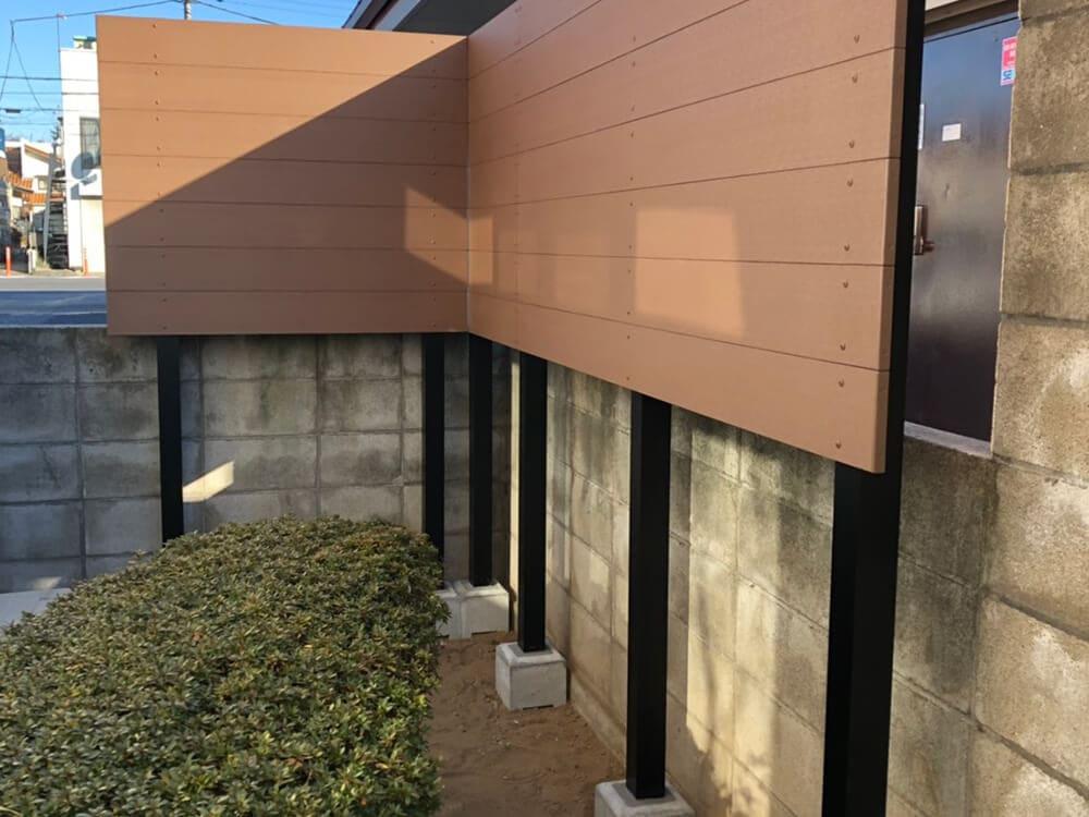目隠しフェンス工事 NO.1369の施工写真メイン