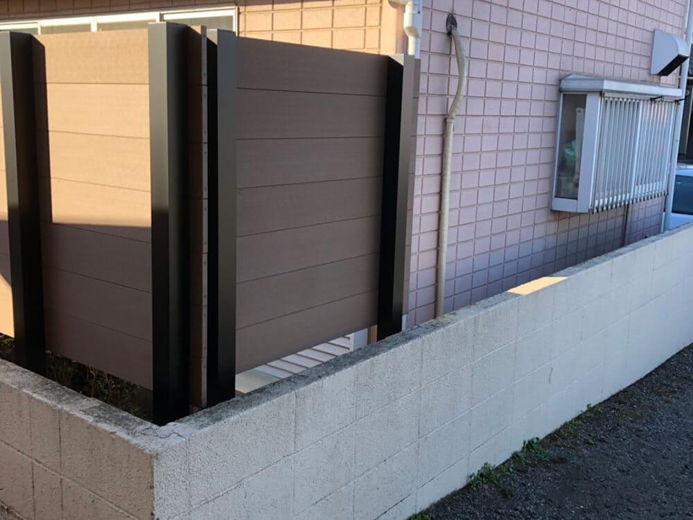 目隠しフェンス工事 NO.1369の施工写真3