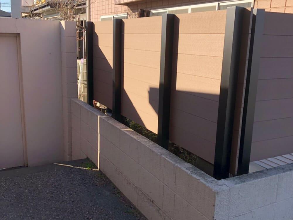 目隠しフェンス工事 NO.1369の施工写真2