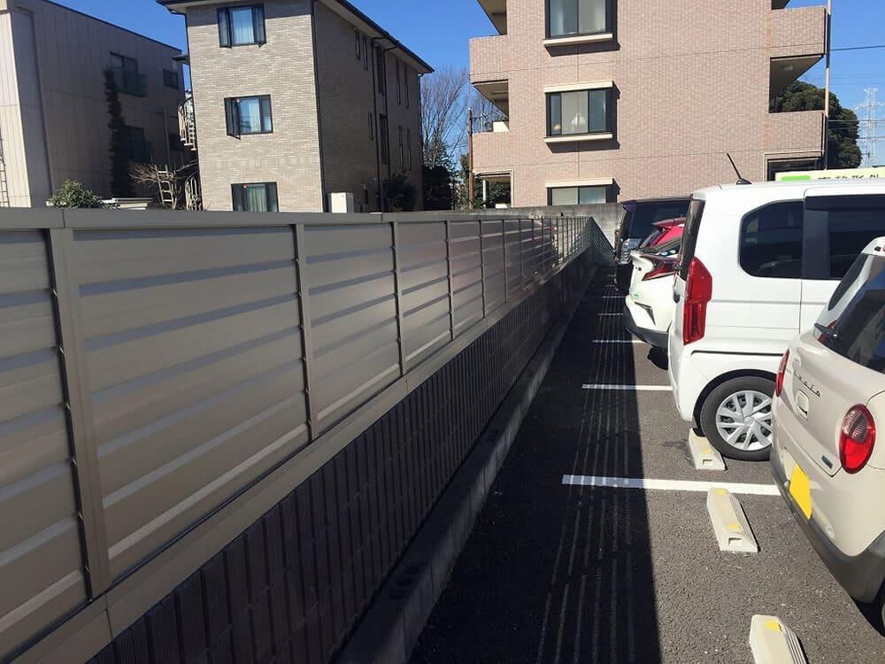 駐車場ブロック・目隠しフェンス工事 NO.1392の施工写真2