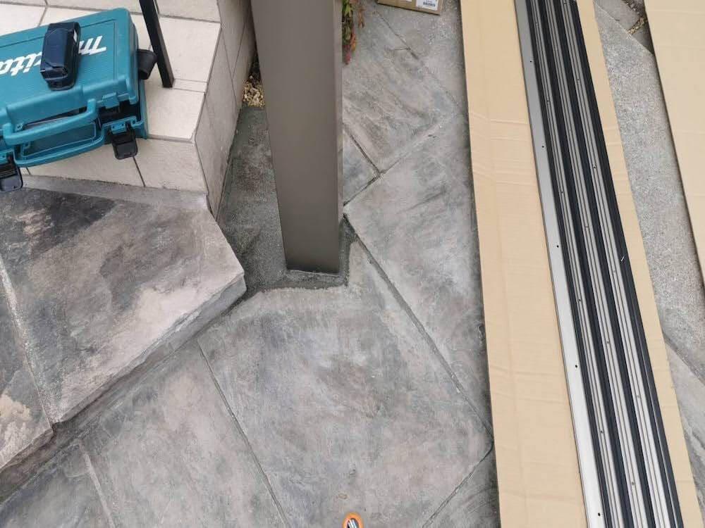 カーポート工事 スカイリード2台用 No.1394の施工写真2