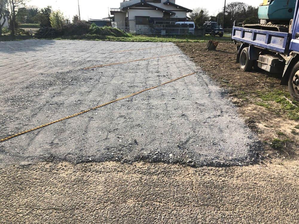 駐車場砕石敷工事 NO.1409の施工写真2